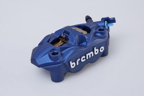 Brembo féknyereg, kék, bal