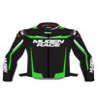 Mugen Race MNR-1921 Bőrkabát Fekete-Fluo-Fehér