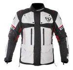 Textil Kabát NJ-MNR-1840 Szürke-Fekete-Piros 3XL
