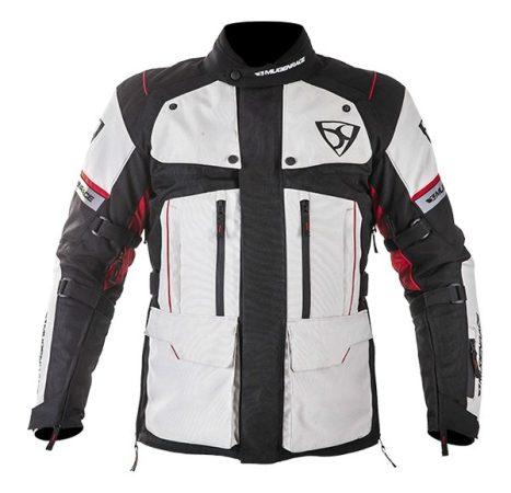 Textil Kabát NJ-MNR-1840 Szürke-Fekete-Piros XL