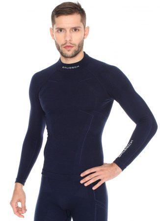 Brubeck Extreme Wool Férfi Téli Aláöltöző Felső Blue
