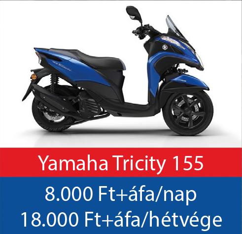robogó bérlés Yamaha Tricity 155