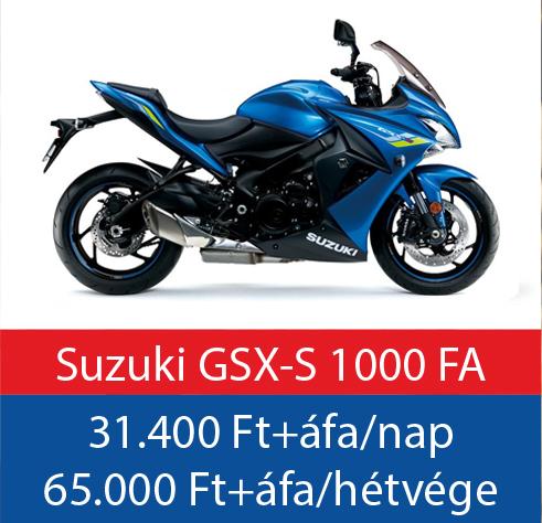 motorbérlés Suzuki GSX-S 1000 FA