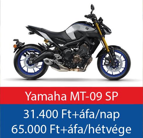 motorbérlés Yamaha MT-09 SP