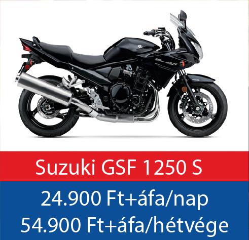 motorbérlés Suzuhki GSF 1250 S Bandit