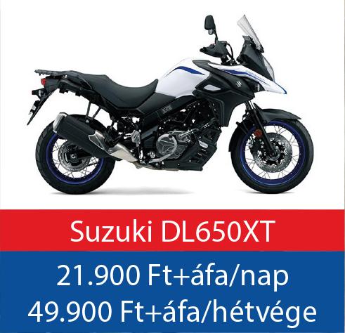 motorbérlés Suzuki DL650XT VStrom