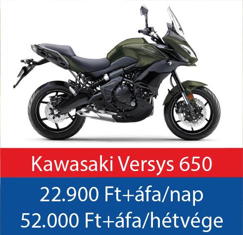 motorbérlés Kawasaki Versys 650