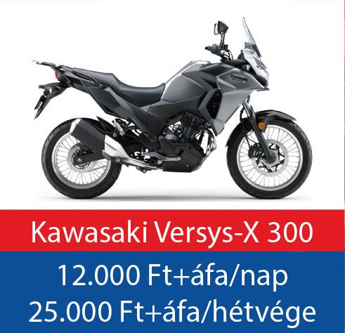 motorbérlés Kawasaki Versys 300