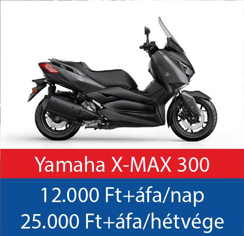 robogó bérlés Yamaha X-MAX 300